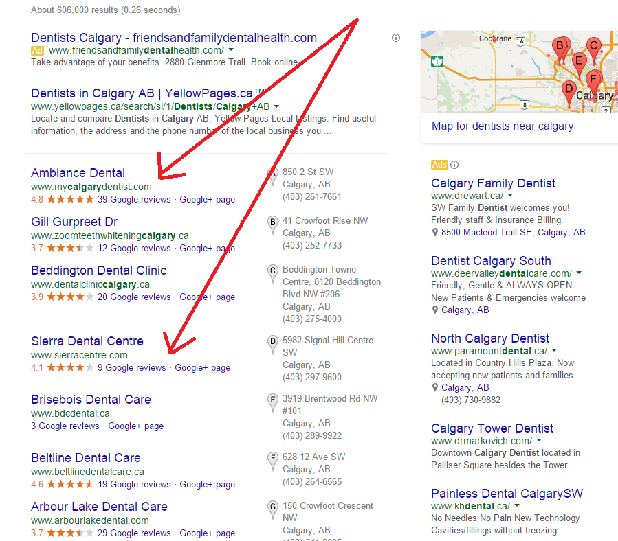Local Search Results Calgary | Melissa Merriam Online Marketing Consulting
